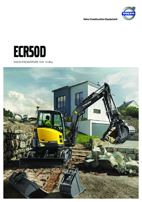 Volvo ECR50D Compact Excavator - Contractors Equipment Sales